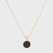 /achat-colliers-pendentifs/chained-and-able-collier-onyx-figaro-medallion-nb17086-dore-168286.html