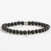 /achat-bracelets/chained-and-able-bracelet-cross-slim-moon-rock-ba17045-noir-argente-168321.html
