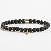 /achat-bracelets/chained-and-able-bracelet-cross-slim-moon-rock-bb17045-noir-dore-168322.html