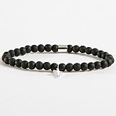 /achat-bracelets/chained-and-able-bracelet-cross-slim-beaded-ba17095-noir-argente-168336.html