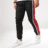 /achat-pantalons-joggings/terance-kole-pantalon-jogging-a-bandes-88033-noir-rouge-blanc-168287.html