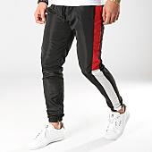/achat-pantalons-joggings/terance-kole-pantalon-jogging-a-bandes-88031-noir-rouge-blanc-168291.html