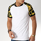 /achat-t-shirts/terance-kole-tee-shirt-col-zippe-renaissance-98223-blanc-noir-168300.html