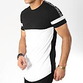 /achat-t-shirts-longs-oversize/terance-kole-tee-shirt-oversize-a-bandes-98209-noir-blanc-168310.html