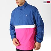 /achat-vestes/tommy-hilfiger-jeans-veste-outdoor-pop-over-rose-bleu-marine-blanc-168187.html
