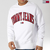 /achat-sweats-capuche/tommy-hilfiger-jeans-sweat-crewneck-clean-collegiate-5945-blanc-168188.html