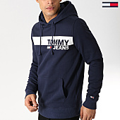 /achat-sweats-capuche/tommy-hilfiger-jeans-sweat-capuche-essential-graphic-6047-bleu-marine-168317.html