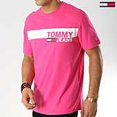 /achat-t-shirts/tommy-hilfiger-jeans-tee-shirt-essential-box-logo-6089-rose-168324.html