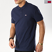 /achat-polos-manches-courtes/tommy-hilfiger-jeans-polo-manches-courtes-classics-solid-6112-bleu-marine-168326.html