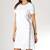 /achat-robes/versace-jeans-robe-femme-avec-bandes-since-tdm904-blanc-168194.html