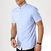 /achat-chemises-manches-courtes/celio-chemise-slim-manches-courtes-namido-bleu-clair-168452.html