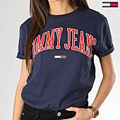 /achat-t-shirts/tommy-hilfiger-jeans-tee-shirt-femme-collegiate-05703-logo-bleu-marine-168554.html