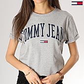 /achat-t-shirts/tommy-hilfiger-jeans-tee-shirt-femme-collegiate-05703-logo-gris-chine-168555.html