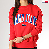 /achat-sweats-col-rond-crewneck/tommy-hilfiger-jeans-sweat-crewneck-femme-clean-collegiate-6050-rouge-168560.html