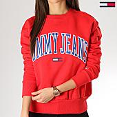 /achat-sweats-col-rond-crewneck/tommy-hilfiger-jeans-sweat-crewneck-femme-clean-collegiate-6050-rouge-168560.html