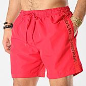 /achat-maillots-de-bain/calvin-klein-short-de-bain-avec-bandes-drawstring-294-rouge-168689.html
