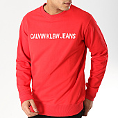 /achat-sweats-col-rond-crewneck/calvin-klein-sweat-crewneck-institutional-logo-7758-rouge-168701.html