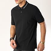 /achat-polos-manches-courtes/calvin-klein-polo-manches-courtes-institutionnal-collar-1172-noir-168726.html