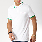 /achat-polos-manches-courtes/calvin-klein-polo-manches-coutres-tipping-1176-blanc-vert-168728.html