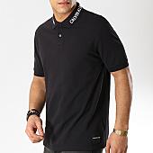 /achat-polos-manches-courtes/calvin-klein-polo-manches-courtes-institutionnal-collar-1183-noir-168730.html