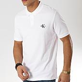 /achat-polos-manches-courtes/calvin-klein-polo-manches-courtes-new-monogram-2323-blanc-168771.html