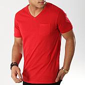 /achat-t-shirts-poche/celio-tee-shirt-poche-col-v-vebasic-rouge-168648.html