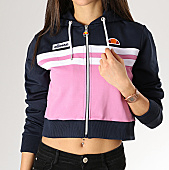 /achat-sweats-zippes-capuche/ellesse-sweat-zippe-capuche-crop-femme-bulito-sga05563-bleu-marine-rose-168617.html