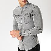/achat-chemises-manches-longues/frilivin-chemise-jean-manches-longues-ca-606-gris-168832.html