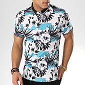 /achat-polos-manches-courtes/frilivin-polo-manches-courtes-floral-mp908-blanc-noir-turquoise-168847.html