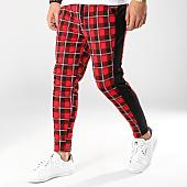 /achat-pantalons-carreaux/frilivin-pantalon-carreaux-avec-bandes-1536a-rouge-noir-168875.html
