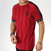 /achat-t-shirts-longs-oversize/sinners-attire-tee-shirt-oversize-avec-bandes-cali-bordeaux-168858.html