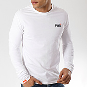 /achat-t-shirts-poche/superdry-tee-shirt-manches-longues-orange-label-m60002ns-blanc-169010.html