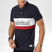 /achat-polos-manches-courtes/timberland-polo-manches-courtes-millers-a1o47-bleu-marine-blanc-rouge-169008.html