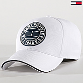 /achat-casquettes-de-baseball/tommy-hilfiger-jeans-casquette-round-patch-4503-blanc-168933.html