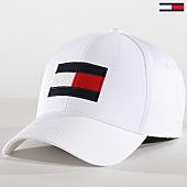 /achat-casquettes-de-baseball/tommy-hilfiger-jeans-casquette-big-flag-blanc-168953.html