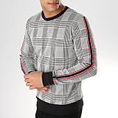 /achat-sweats-col-rond-crewneck/uniplay-sweat-crewneck-avec-bandes-t568-noir-blanc-rouge-168883.html
