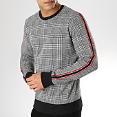 /achat-sweats-col-rond-crewneck/uniplay-sweat-crewneck-avec-bandes-t567-noir-blanc-rouge-168914.html
