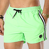 /achat-maillots-de-bain/american-people-short-de-bain-avec-bandes-surfing-vert-fluo-169084.html
