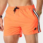 /achat-maillots-de-bain/american-people-short-de-bain-avec-bandes-surfing-orange-fluo-169091.html