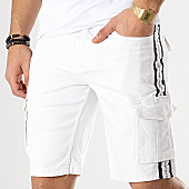 /achat-shorts-cargo/american-people-short-cargo-avec-bandes-tunk-blanc-169093.html