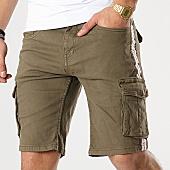 /achat-shorts-cargo/american-people-short-cargo-avec-bandes-tunk-vert-kaki-169094.html