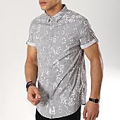/achat-chemises-manches-courtes/american-people-chemise-manches-courtes-soke-gris-floral-169126.html