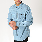 /achat-chemises-manches-longues/american-people-chemise-manches-longues-senim-bleu-clair-169140.html