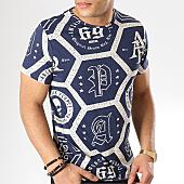 /achat-t-shirts/american-people-tee-shirt-steph-bleu-marine-ecru-169141.html