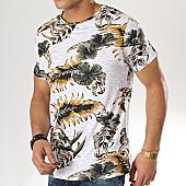 /achat-t-shirts/american-people-tee-shirt-saduru-blanc-chine-vert-kaki-floral-169143.html