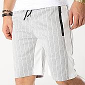 /achat-shorts-jogging/zayne-paris-short-jogging-raye-avec-bandes-md05-gris-chine-blanc-169179.html