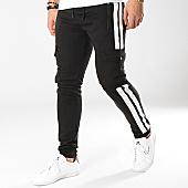 /achat-pantalons-joggings/zayne-paris-pantalon-jogging-avec-bandes-mk10-noir-blanc-169183.html