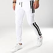 /achat-pantalons-joggings/zayne-paris-pantalon-jogging-avec-bandes-mk10-blanc-noir-169188.html
