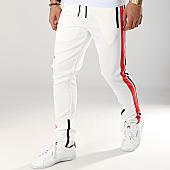 /achat-pantalons-joggings/zayne-paris-pantalon-jogging-avec-bandes-mk09-blanc-noir-rouge-169190.html