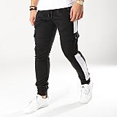 /achat-pantalons-joggings/zayne-paris-pantalon-jogging-avec-bandes-mk07-noir-blanc-169192.html